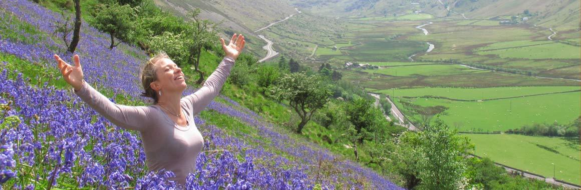 Jane Clapham, Dru Meditation Teacher Trainer, Nant Ffrancon Valley, close to the Dru International Retreat Centre
