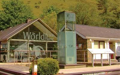World Peace Flame at Snowdonia Mountain Lodge