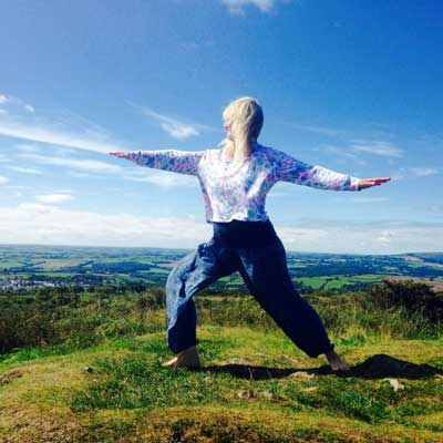 Kathy Hutchings Warrior on Kit Hill in Cornwall