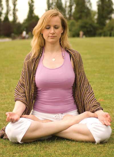 Dru Meditation Teacher Training - woman meditating