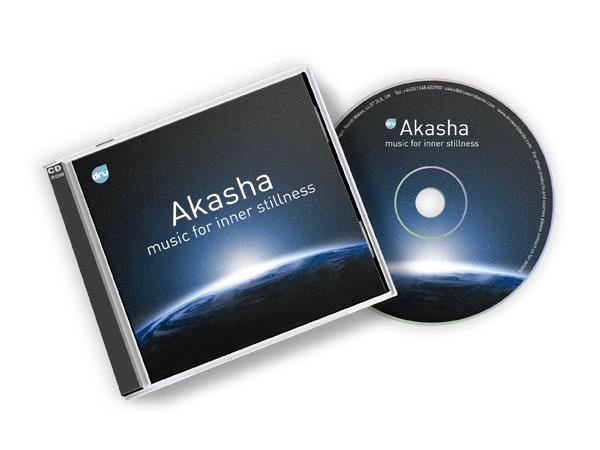 CD cover and CD for Akasha - Music for inner stillness