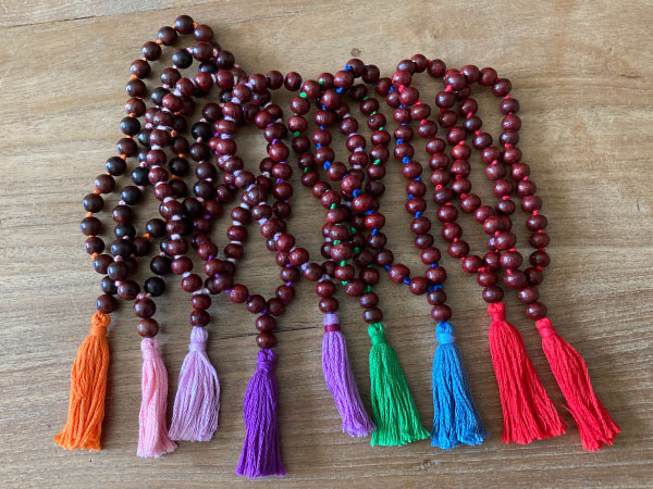 Hand-knotted rosewood malas