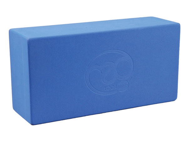 Blue yoga brick