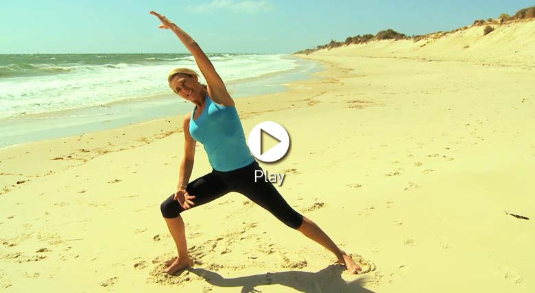 Adi Robertson Wake Up Yoga on the Beach - Dru Yoga video class