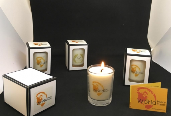 Candle World Peace Flame Votive