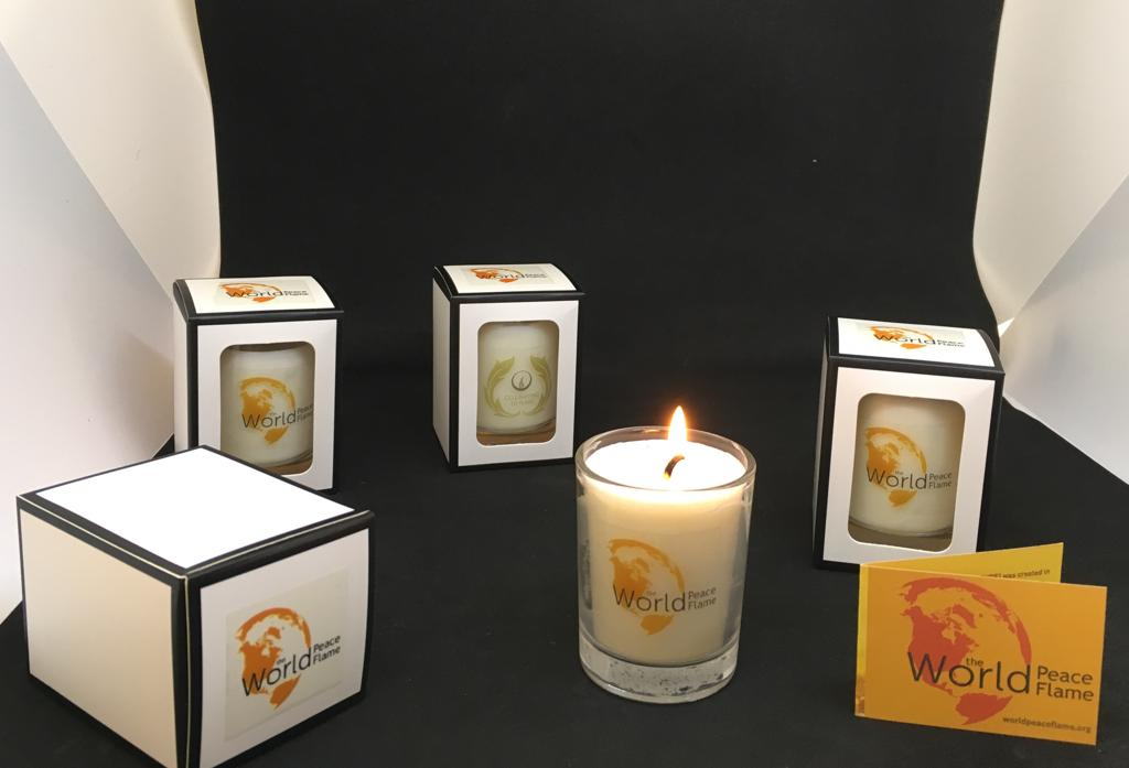 candle, world peace flame, votive
