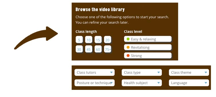 browse the video library