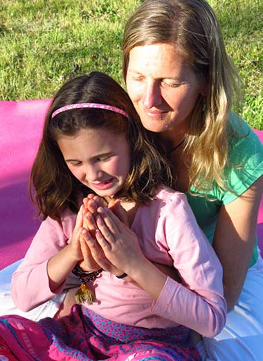 Teaching a child Dru Yoga