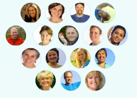Meet the Dru Yoga online yoga class teaching team