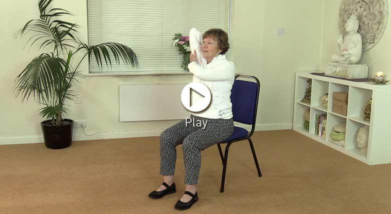 Chair yoga - improve posture