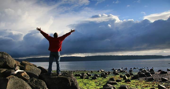 Dru retreats image - man by lake