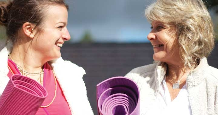 Christiane Saar and Mouli MacKenzie, Dru Yoga teacher trainers