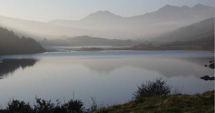 Mount Snowdon from Capel Curig, 10mins from the Dru Yoga International Training Centre