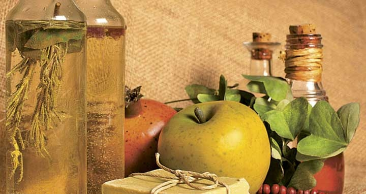 oils, soap and apple