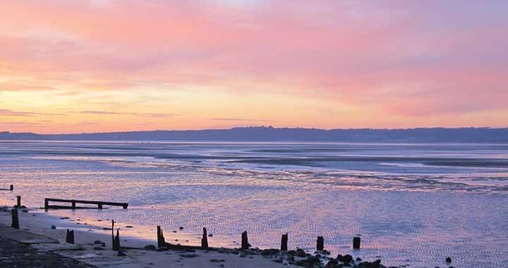 Sunset on the sea: enjoy Dru Meditation in nature