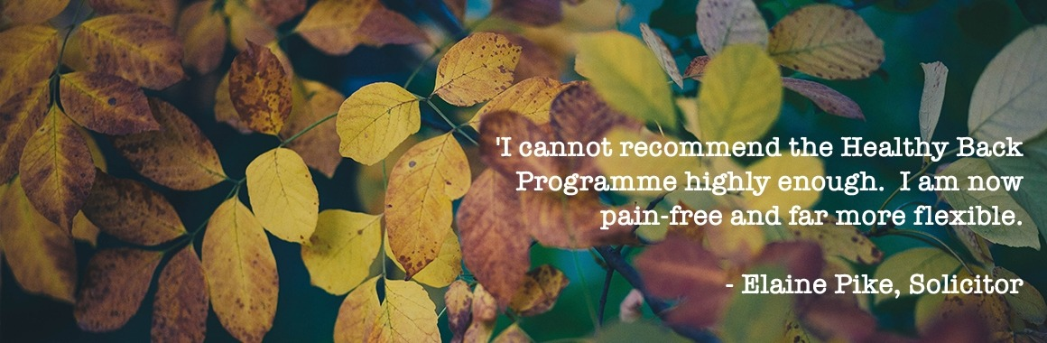 Healthy Back Programme - Tracy Marshall, NHS Nurse quote